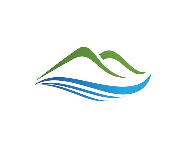 Plantilla de iconos de logotipo y símbolos de logolandscape de montaña vector