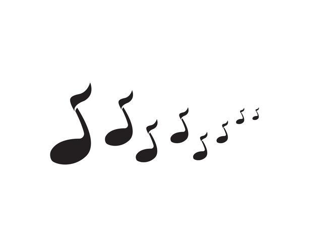 música nota símbolos logo