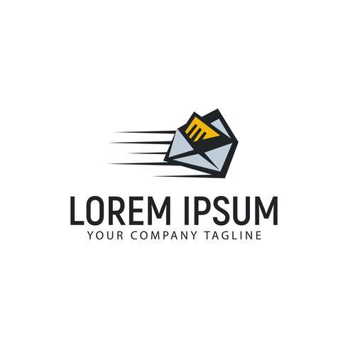 modelo de conceito de design de logotipo de correio rápido