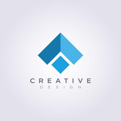 Azotea Casa Resumen Vector Ilustración Diseño Clipart Símbolo Logo Plantilla