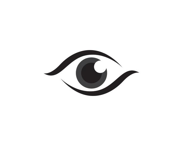 Eye care logo and symbols template vector