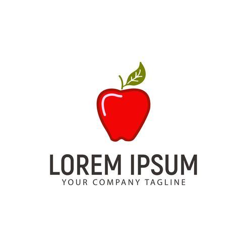 modelo de conceito de design de logotipo de apple