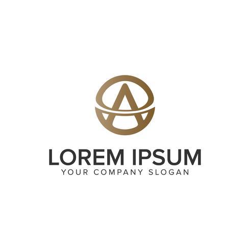 Luxus Brief A Logo-Design-Konzept-Vorlage. voll editierbares vec
