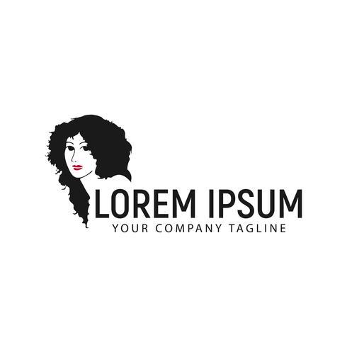beauty woman logo design concept template vector