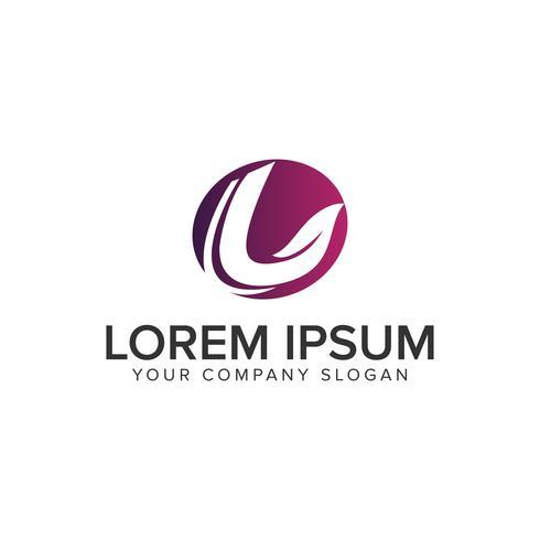letter L leaf nature logo design concept template. fully editabl vector