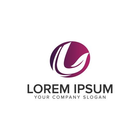 letter L blad aard logo ontwerpsjabloon concept. volledig editabl vector