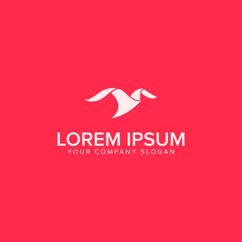 minimalistisk moderna fågellogotypkonceptkonceptmall