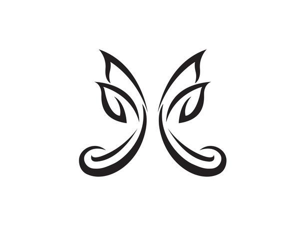 Papillon conceptuel simple, icône colorée. Logo.