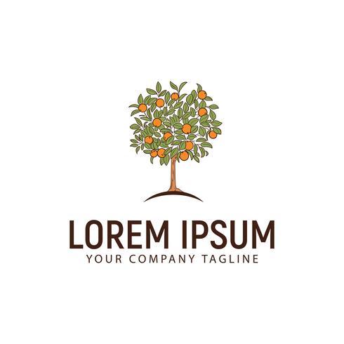 Orangenbaum-Logo-Design-Konzept-Vorlage