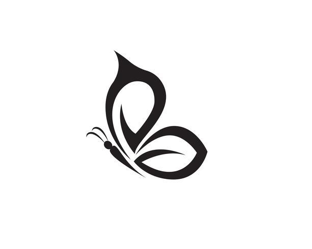 Schmetterling konzeptionelle einfache, bunte Symbol. Logo.