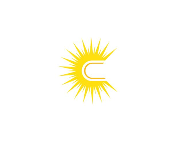 Sun logo star icon web vector