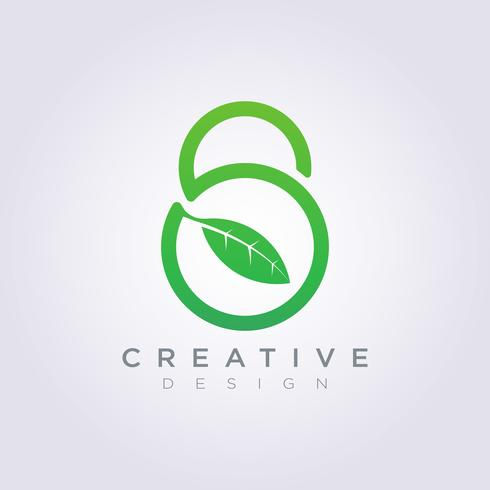 Vorhängeschloss-Blatt-Schablonen-Design-Firma Logo Vector Symbol Icon
