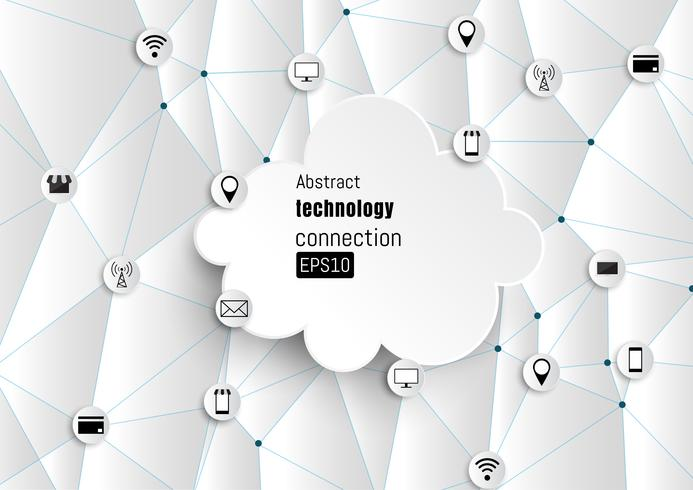 Technology network. Growth background.
