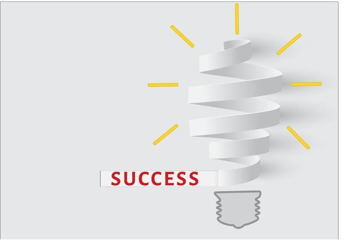 Gloeilamp papier. Concept van creatief zakelijk succes.