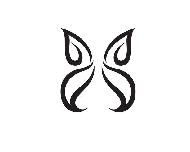 Butterfly konceptuell enkel, färgstark ikon. Logotyp.