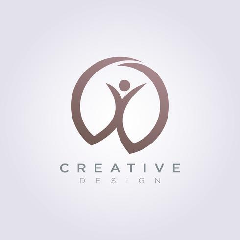 Gelukkige mensen vieren sjabloonontwerp Bedrijf Logo Vector symboolpictogram