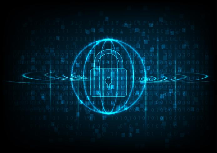 Teknik cyber säkerhet vektor