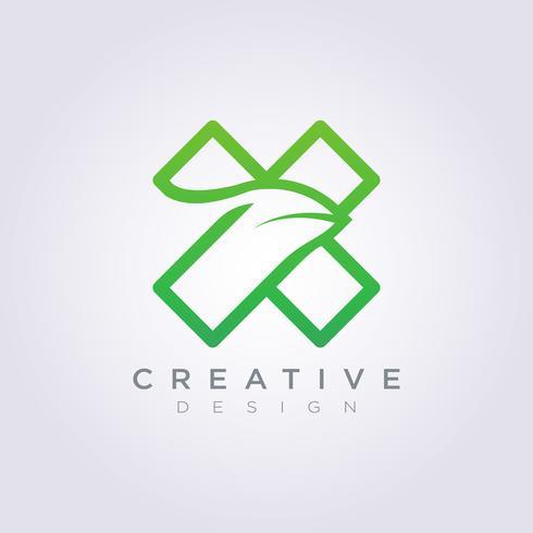 Letra X plantilla decorativa diseño empresa Logo Vector símbolo icono
