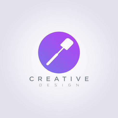 Spatula Cook Vector Illustration Design Clipart Symbol Logo Template
