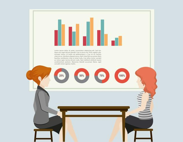 Pessoas de negócios e gráficos