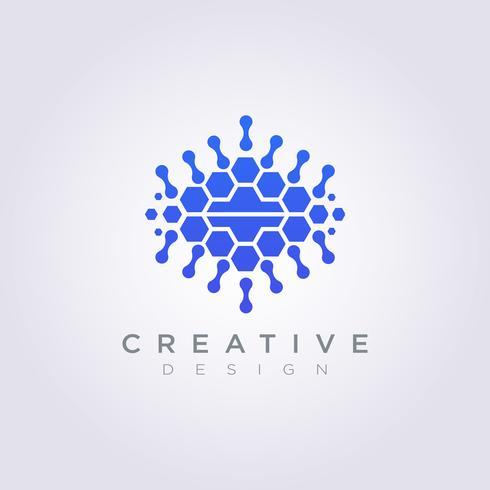 Cerebro digital Plantilla de diseño de datos Logotipo de la compañía Vector símbolo
