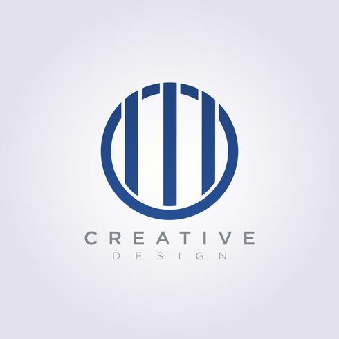 L'icona del simbolo di vettore di Logo Design Company Company dello spirito della prigione di barre della prigione