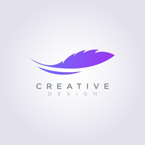 Fur Leaf Design Logo Mall Företag Vector Symbol Icon