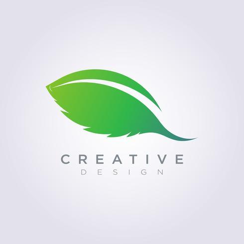 Modèle de dessin vectoriel de forme de feuille Clipart symbole Logo Art