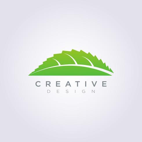 Modello di arte di logo di simbolo di clipart di progettazione di forma di vettore della foglia