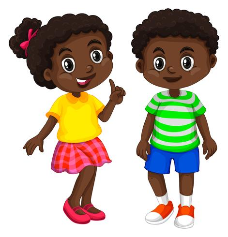 Boy and girl from Haiti