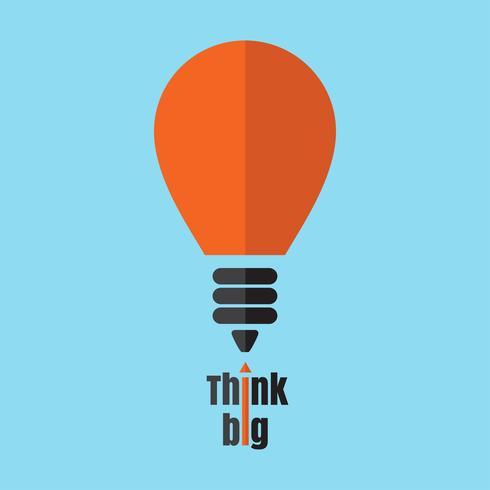 Pensez icône vecteur grosse ampoule.