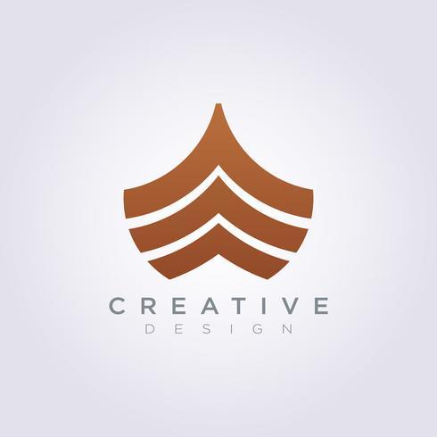 Frente do navio modelo Design empresa logotipo vetor símbolo ícone