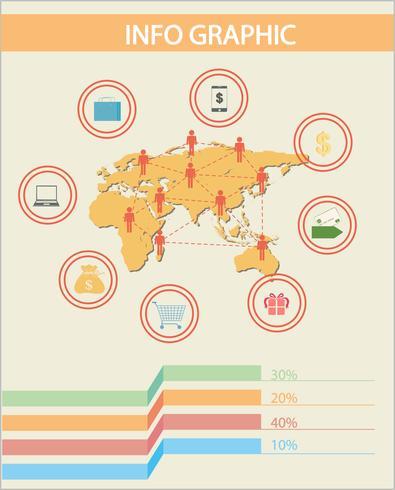 En infographic av folket vektor