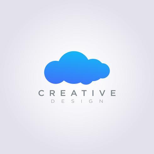 Nuvem de céu tempo Vector Design de ilustração Símbolo de clipart Sky Template de tempo