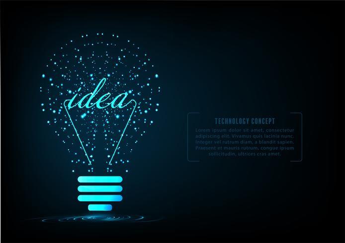 Conceito de lâmpada criativo vetor