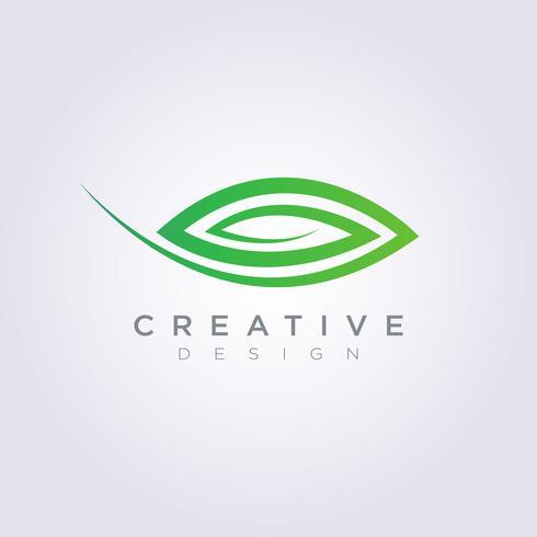Leaf Vector Shape Design Clipart symbool Logo Art sjabloon