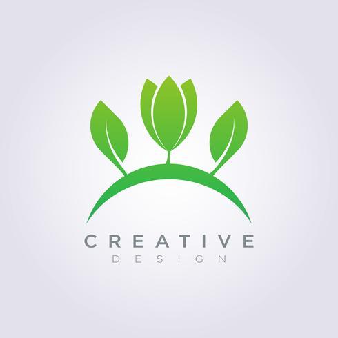 Leaf Vector Shape Design Clipart Symbol Logo Art Template