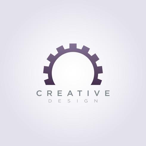 Gear Circle Mechanic Vector Illustration Design Clipart Logo Logo Template