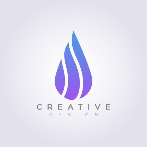 Gota de agua Vector ilustración diseño Clipart símbolo Logo plantilla