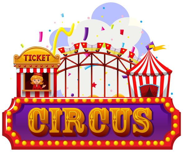An isolated circus banner vector