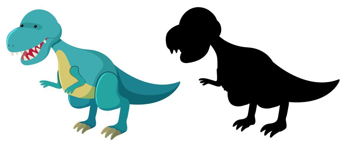 Conjunto de personagem de dinossauro