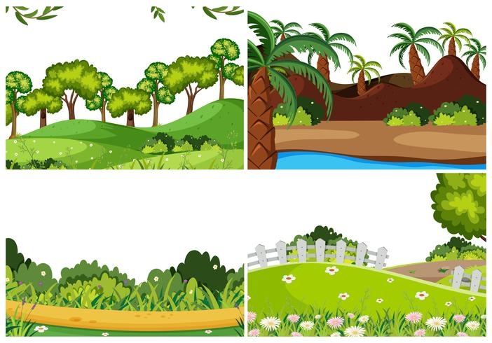 Set di paesaggio naturale