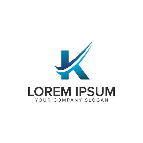 Plantilla de concepto de diseño de logotipo Cative moderna letra K. completamente editado