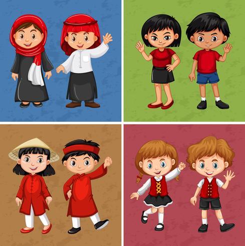 Enfants de différents pays