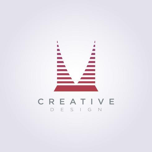 Byggnadskitektur Skyline Vektorillustration Design Clipart Symbol Logo Mall