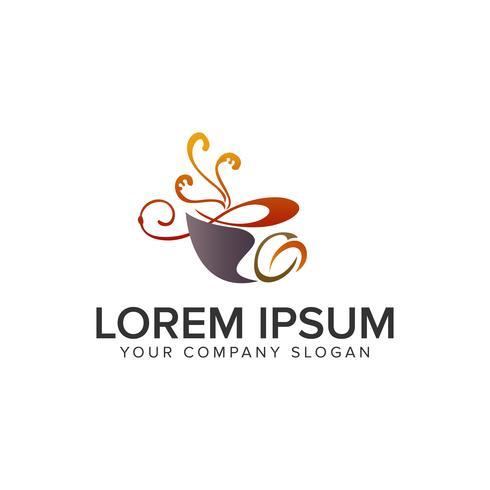 Plantilla de concepto de diseño de logotipo de café. vector completamente editable