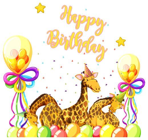Giraffa con tema di compleanno