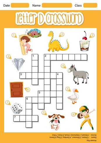 Letter D crossword template
