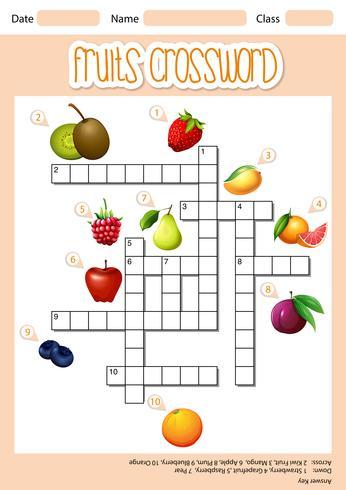Frutas cruzam conceito de palavra