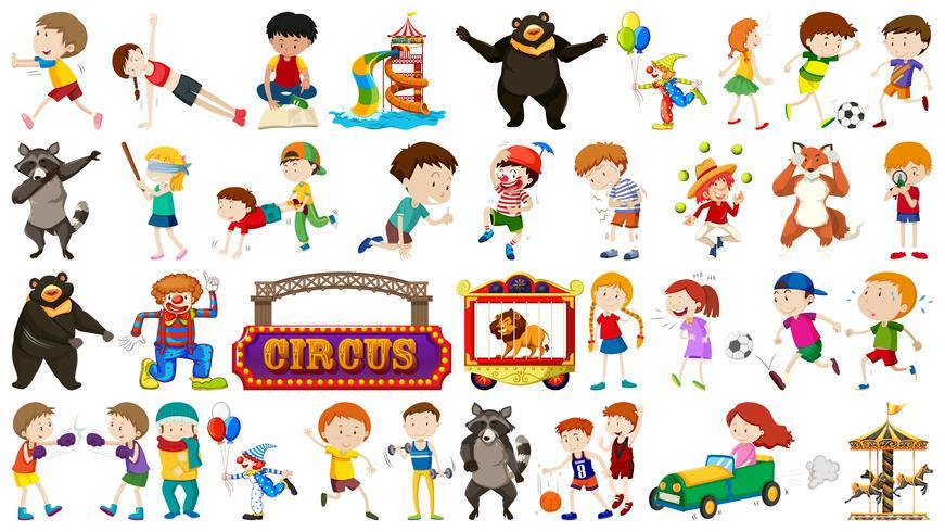 Set barn och cirkus